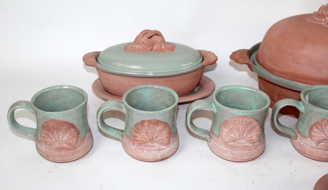 American glazed terra cotta pottery - 3
