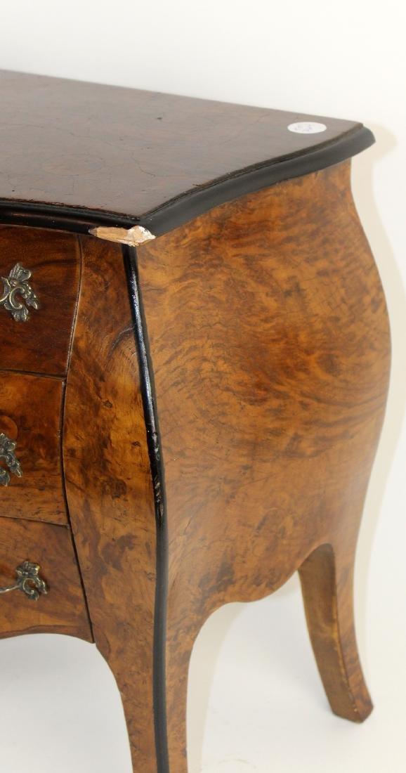 Pair Italian miniature bombe chest of drawers - 6
