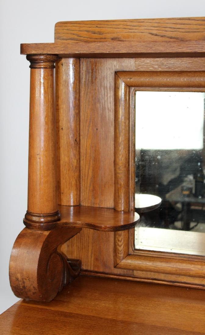 American oak mirror back sideboard - 5