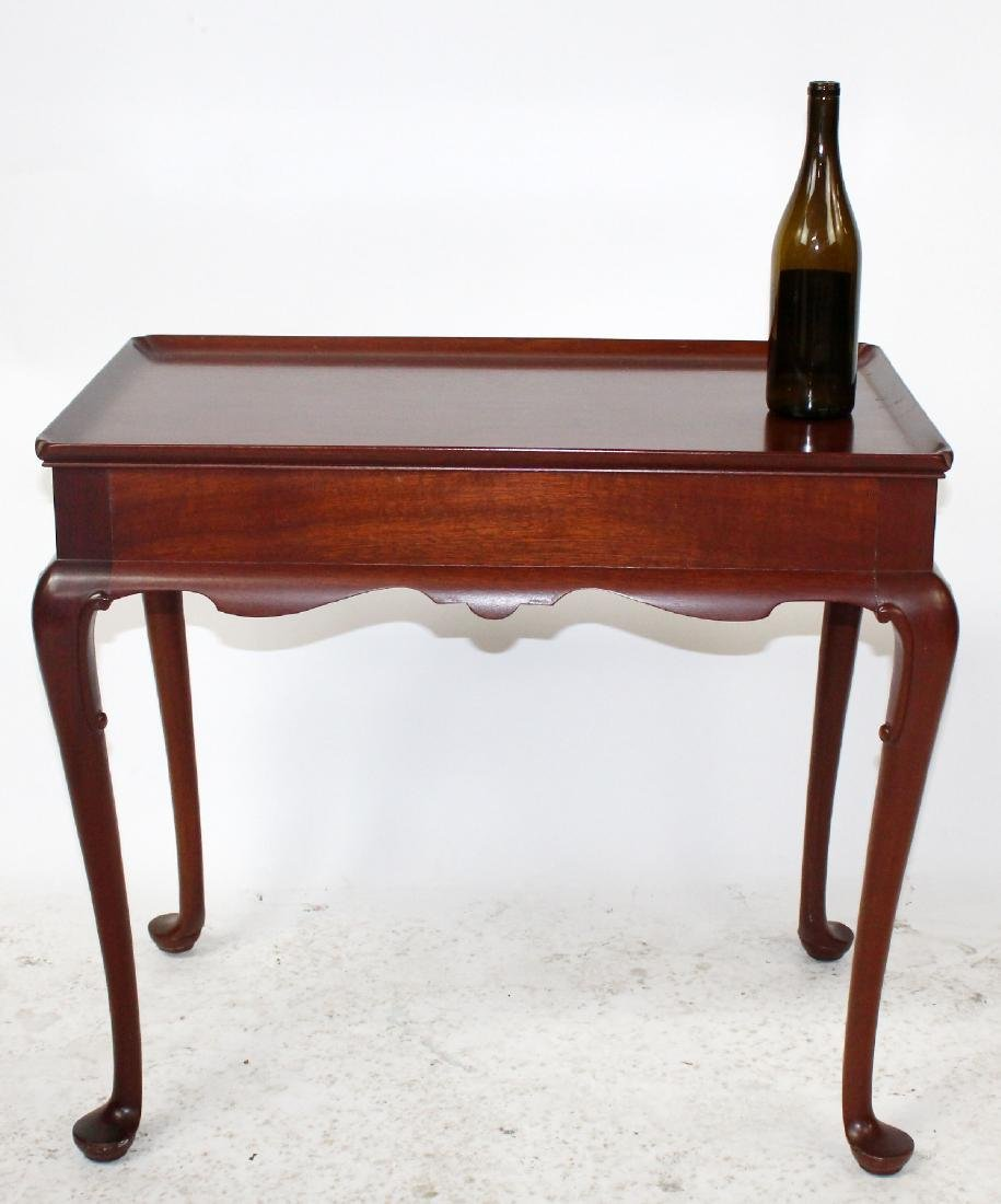Mahogany console game table with shell carving - 2