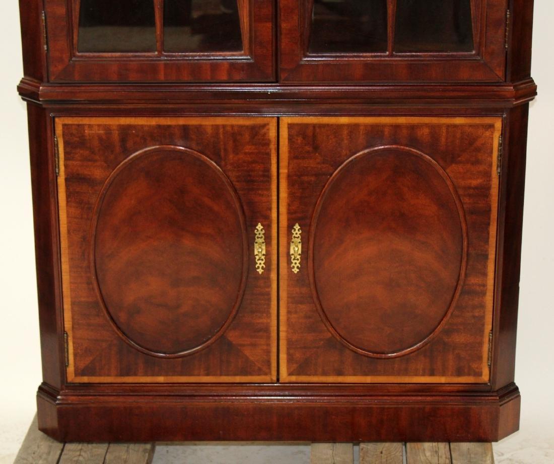 Banded mahogany corner cabinet - 3