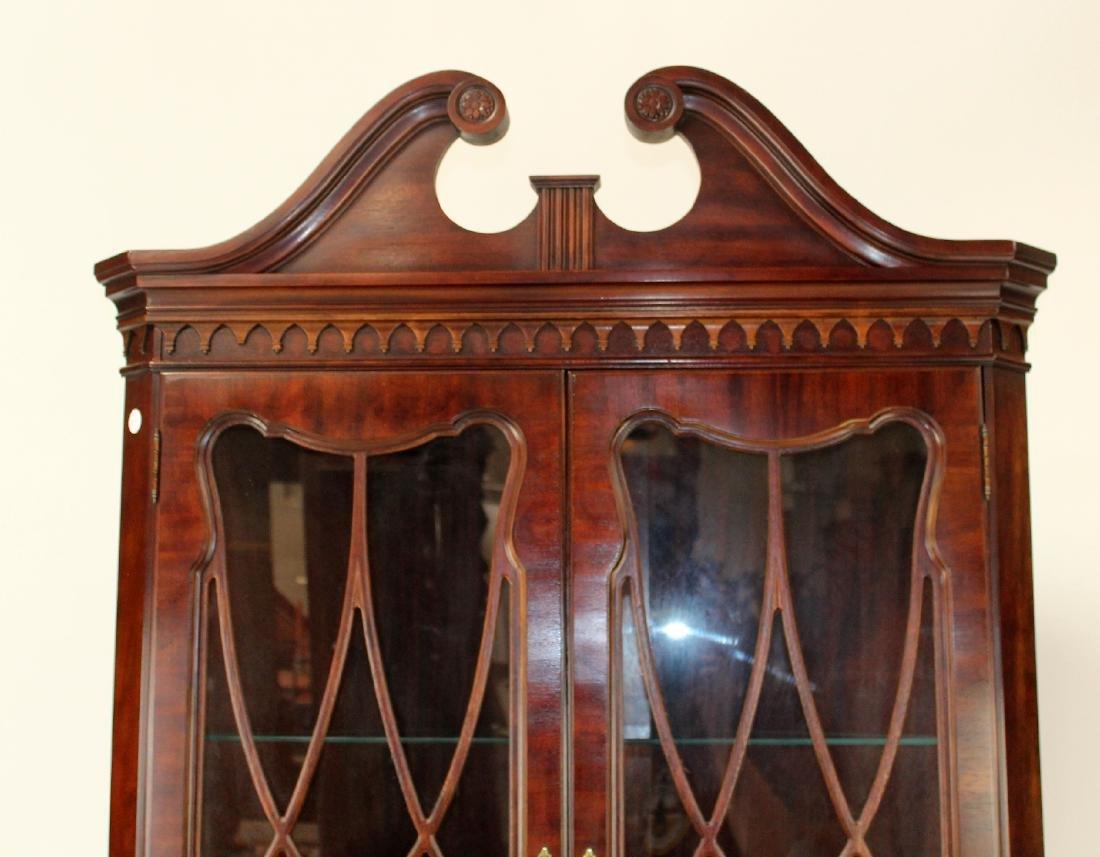 Banded mahogany corner cabinet - 5