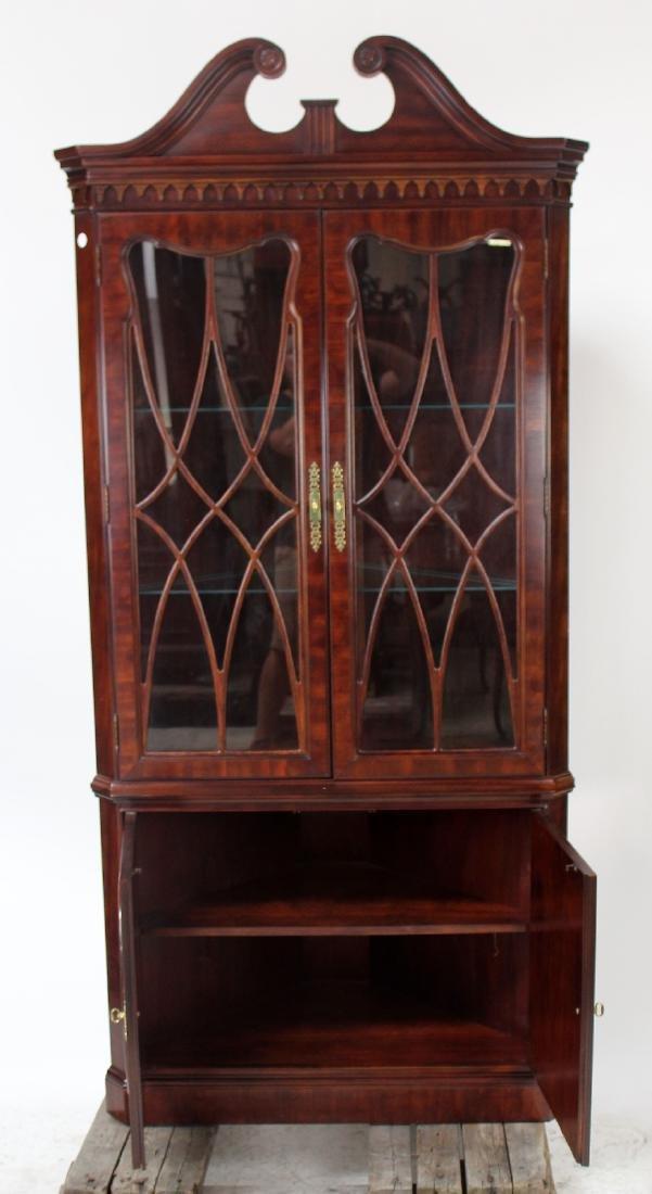 Banded mahogany corner cabinet - 6