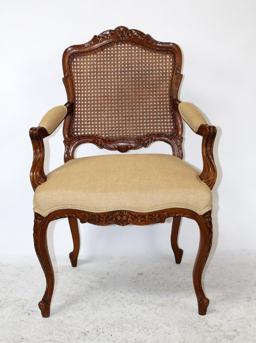 Louis XV style cane back armchair - 2