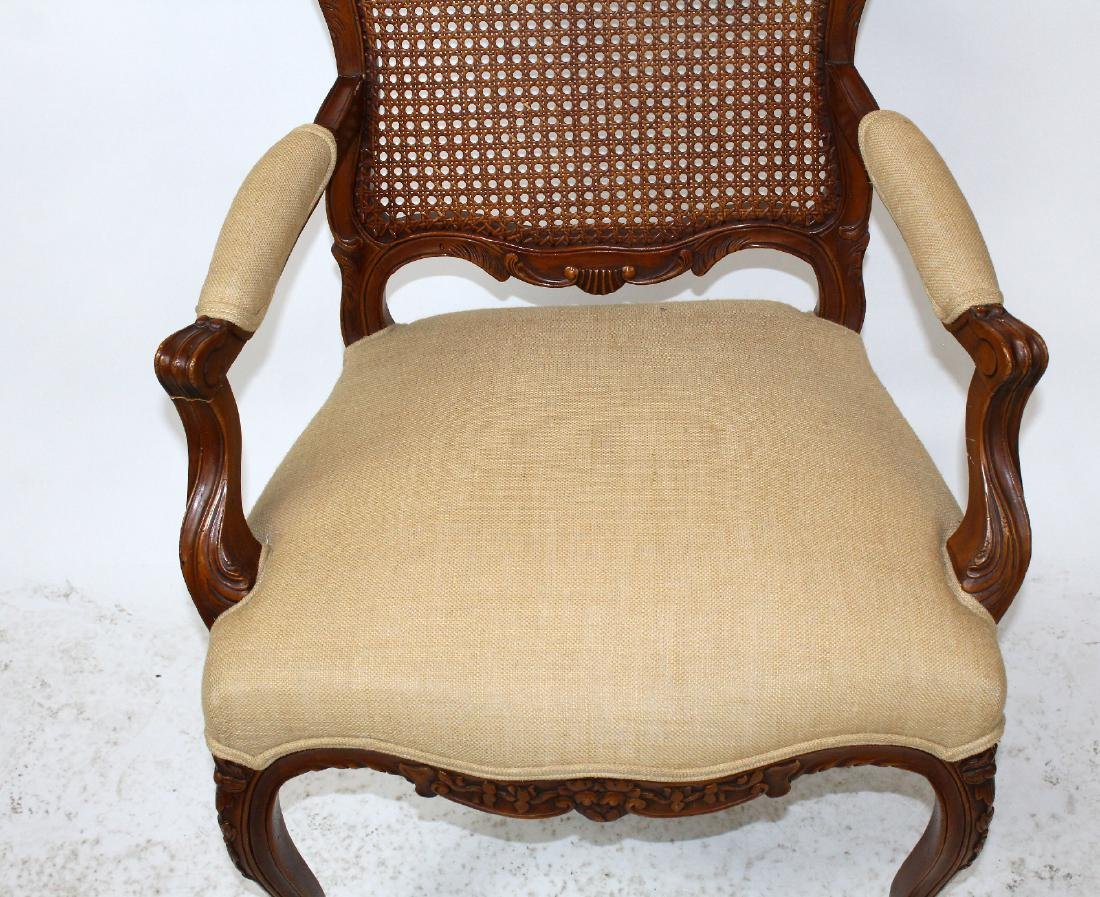 Louis XV style cane back armchair - 4