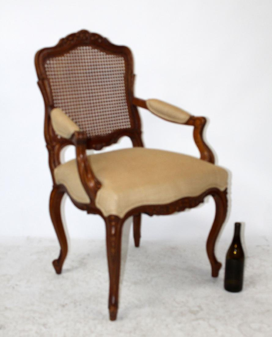 Louis XV style cane back armchair - 6