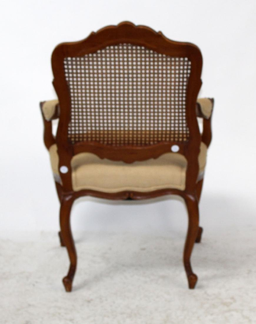 Louis XV style cane back armchair - 7