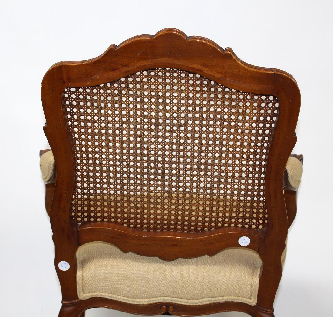 Louis XV style cane back armchair - 8