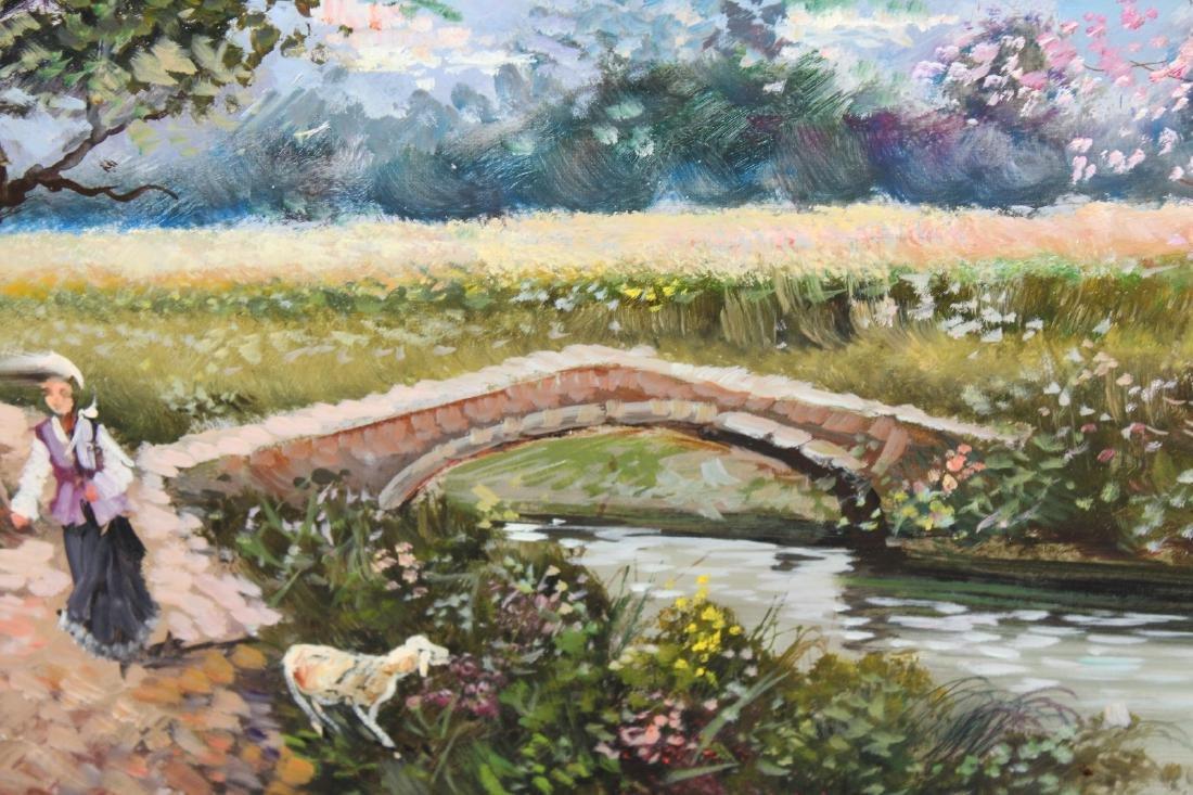 Italian oil on canvas pastoral scene - 4