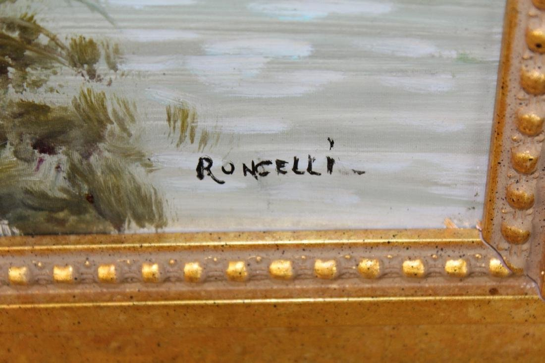 Italian oil on canvas pastoral scene - 5