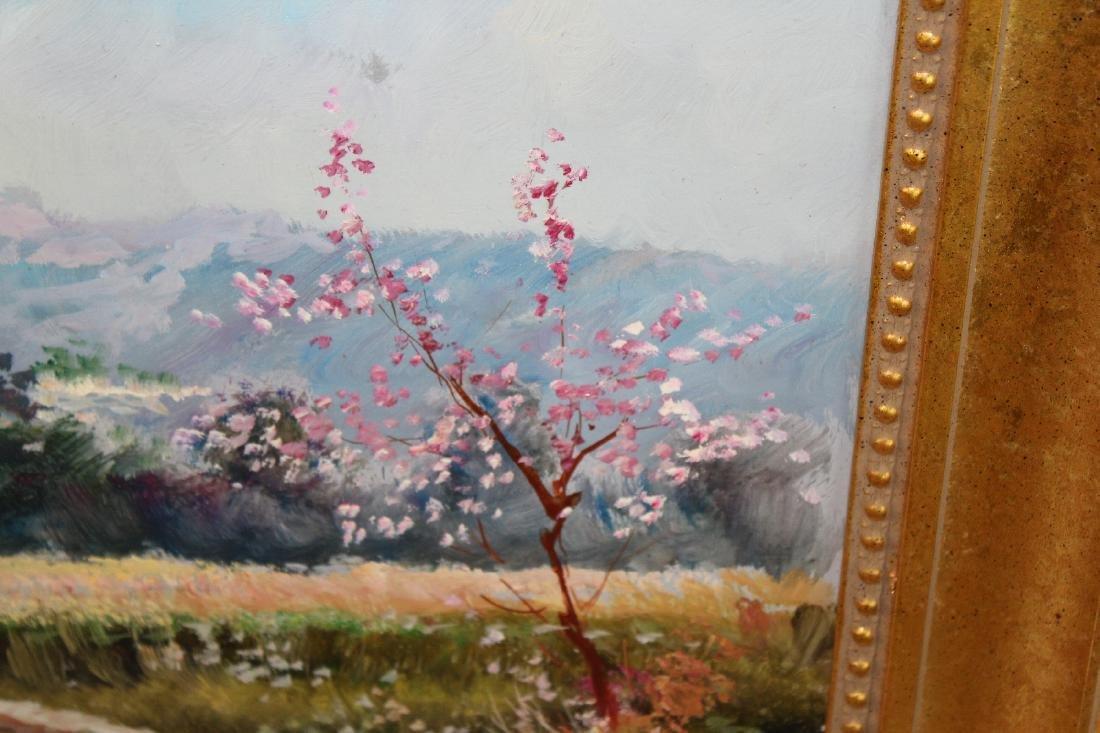 Italian oil on canvas pastoral scene - 6