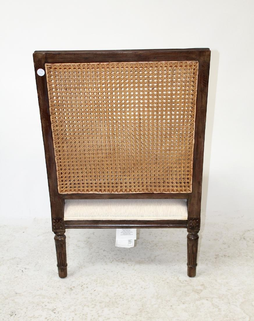 Louis XVI style double cane bergere chair - 2