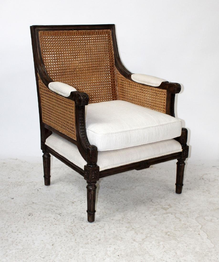 Louis XVI style double cane bergere chair - 3