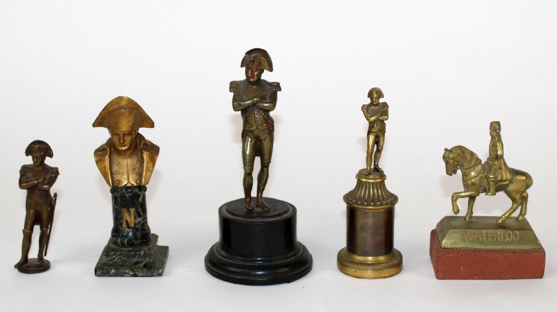 Lot of 5 Napoleon miniature bronzes