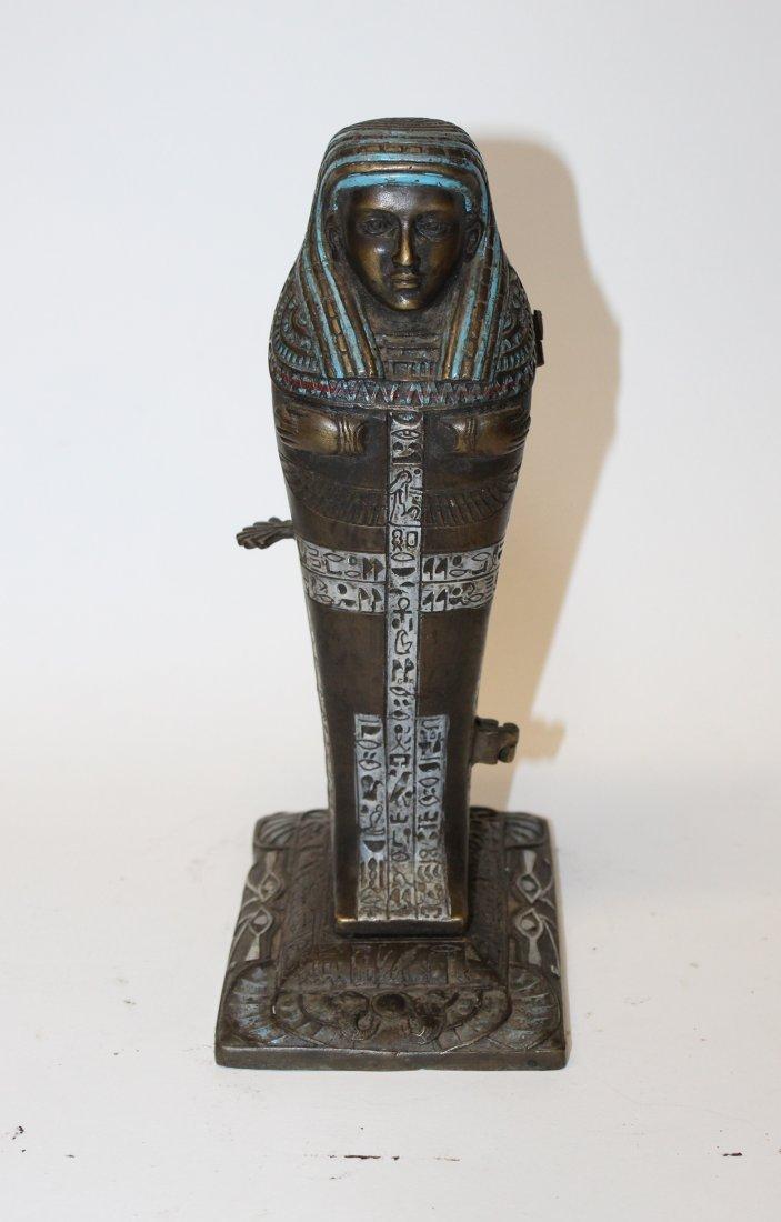 After Franz Bergman bronze erotic Sarcophagus figurine