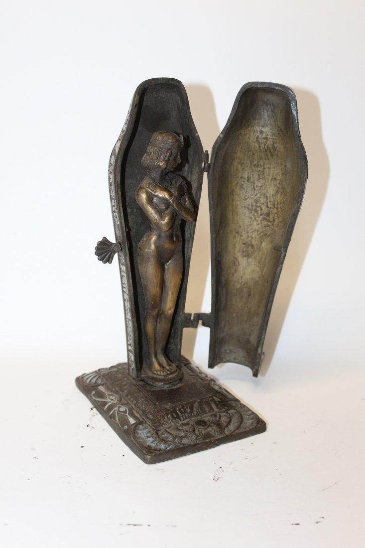 After Franz Bergman bronze erotic Sarcophagus figurine - 3