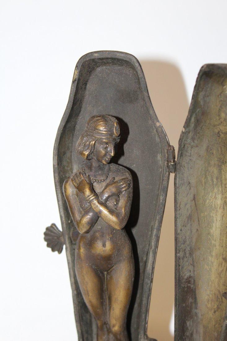 After Franz Bergman bronze erotic Sarcophagus figurine - 4