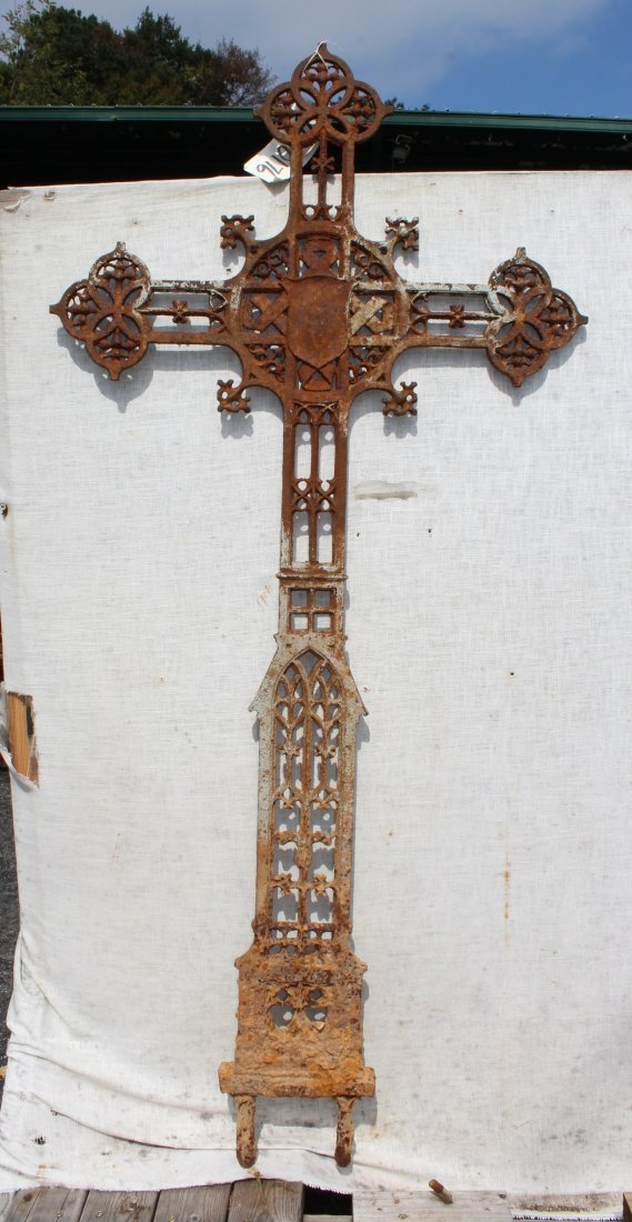 Antique Cast iron cross