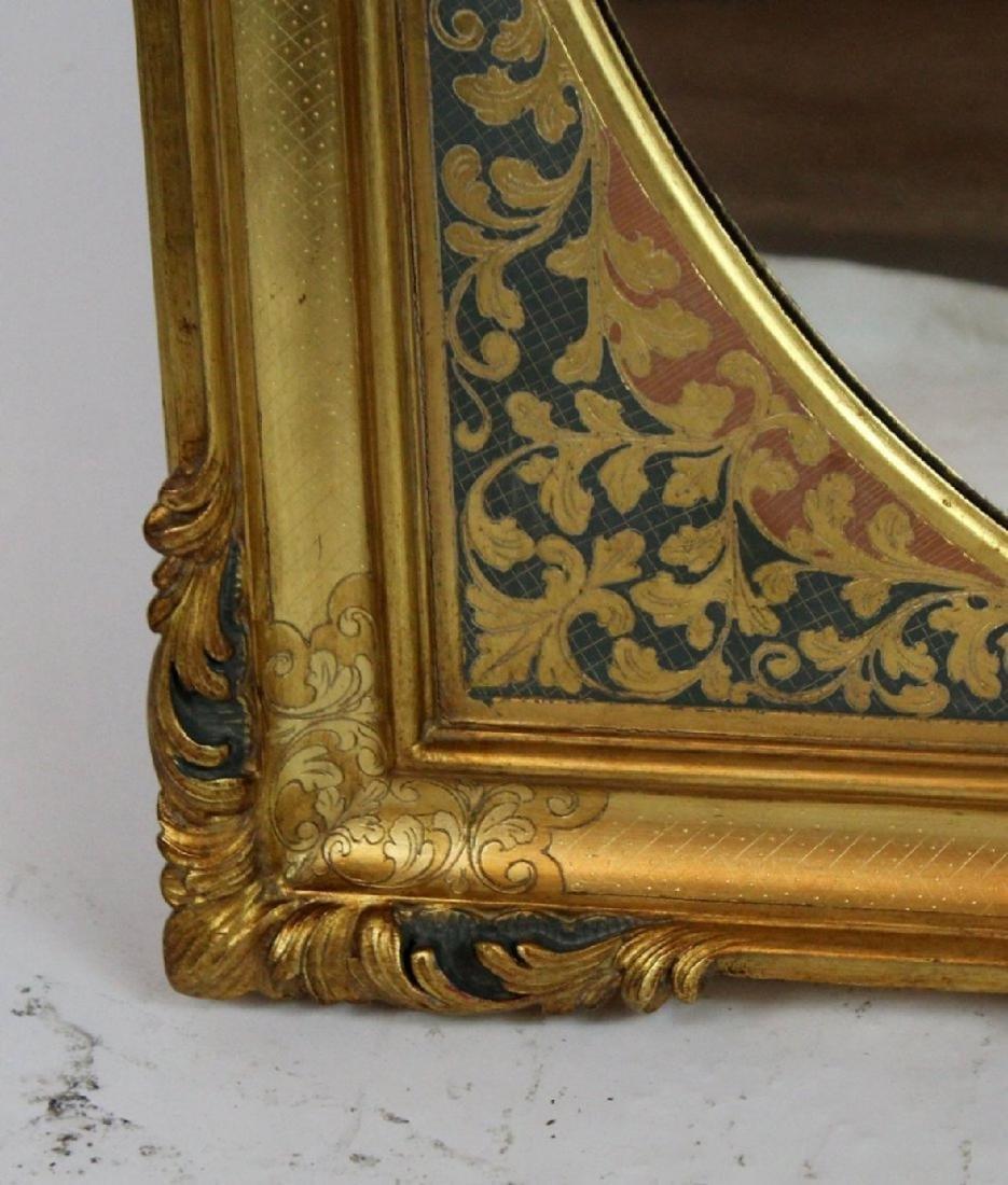 Gilt framed mirror with foliate border - 2