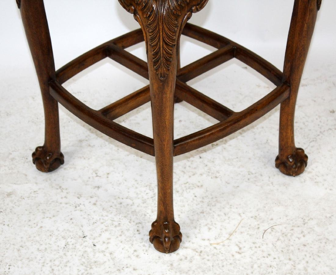 Chippendale style carved mahogany barstool - 5