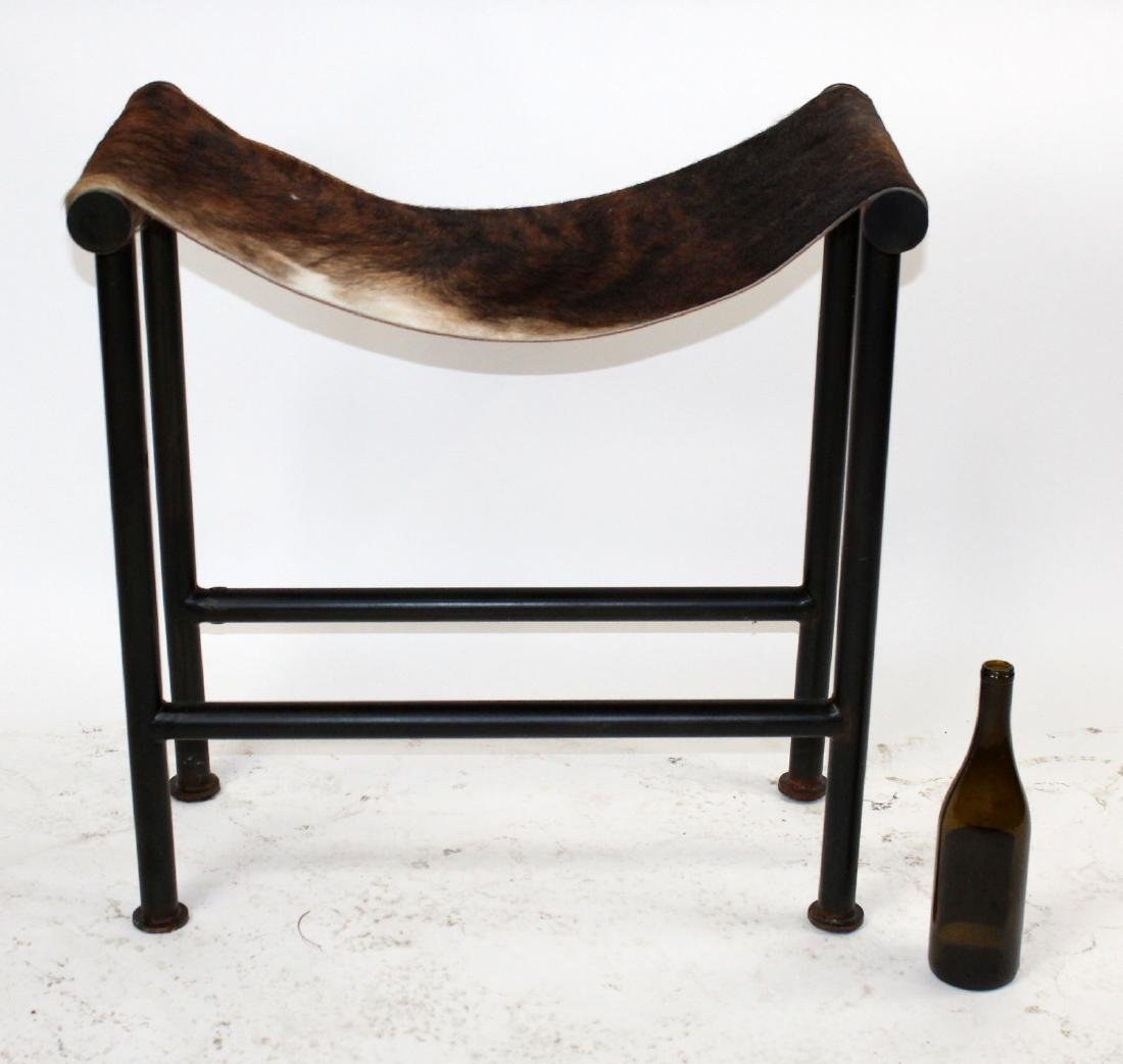 Pony hair sling stool - 2