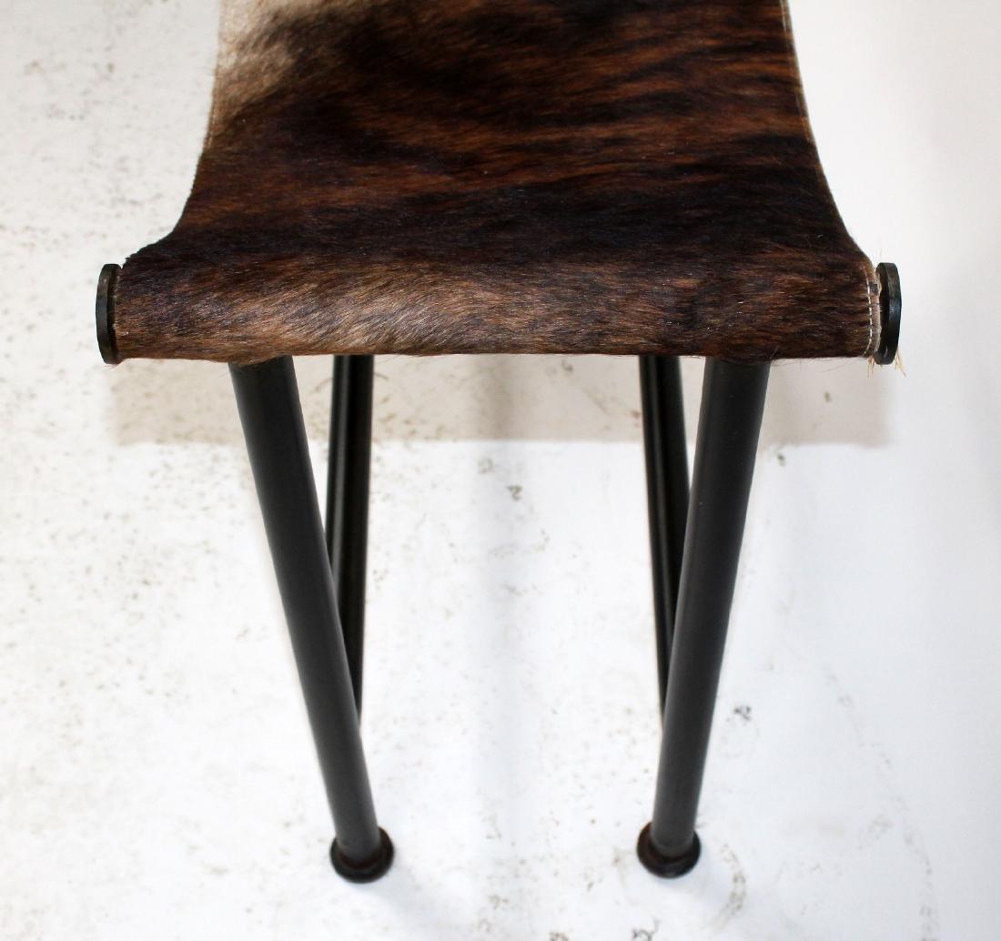Pony hair sling stool - 5