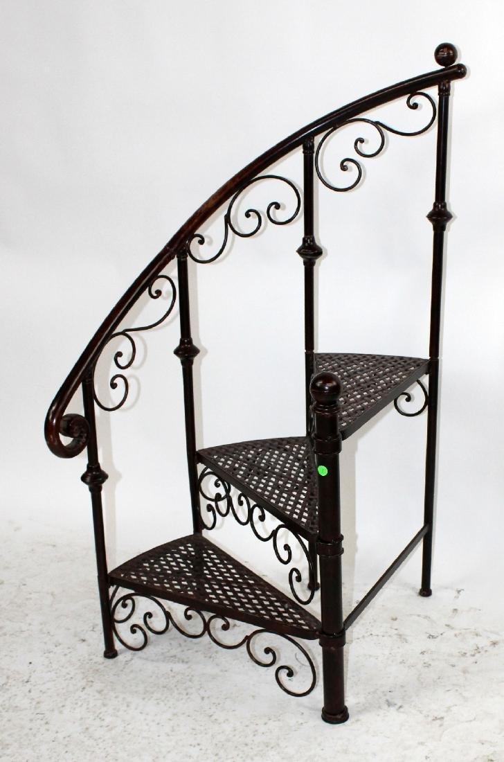 Iron spiral staircase display