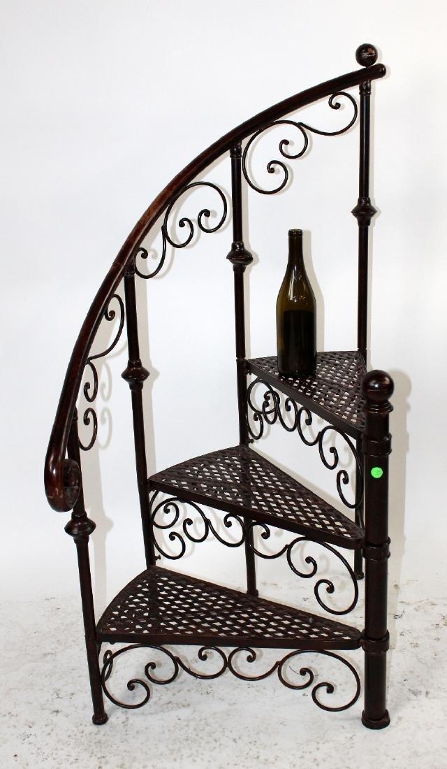 Iron spiral staircase display - 2