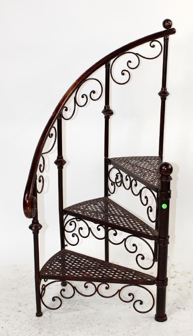 Iron spiral staircase display - 3