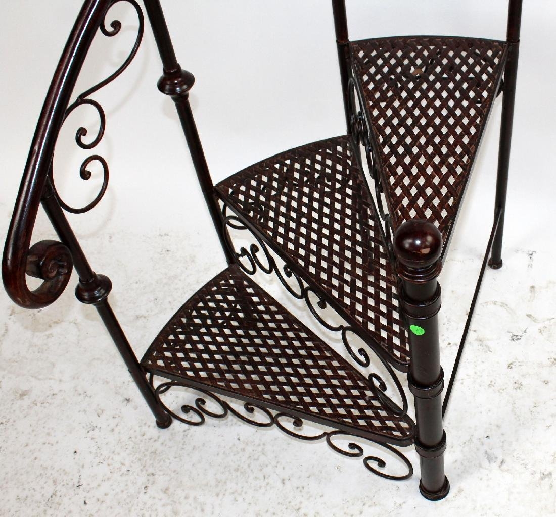 Iron spiral staircase display - 4