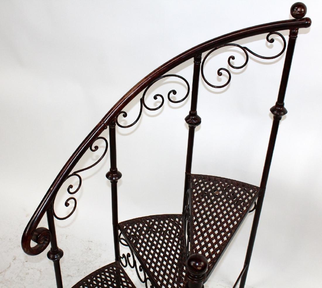Iron spiral staircase display - 5