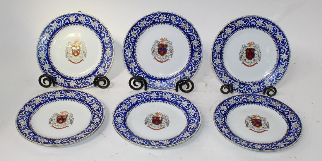 6 hand painted porcelain plates