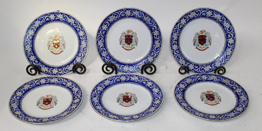 6 hand painted porcelain plates - 3