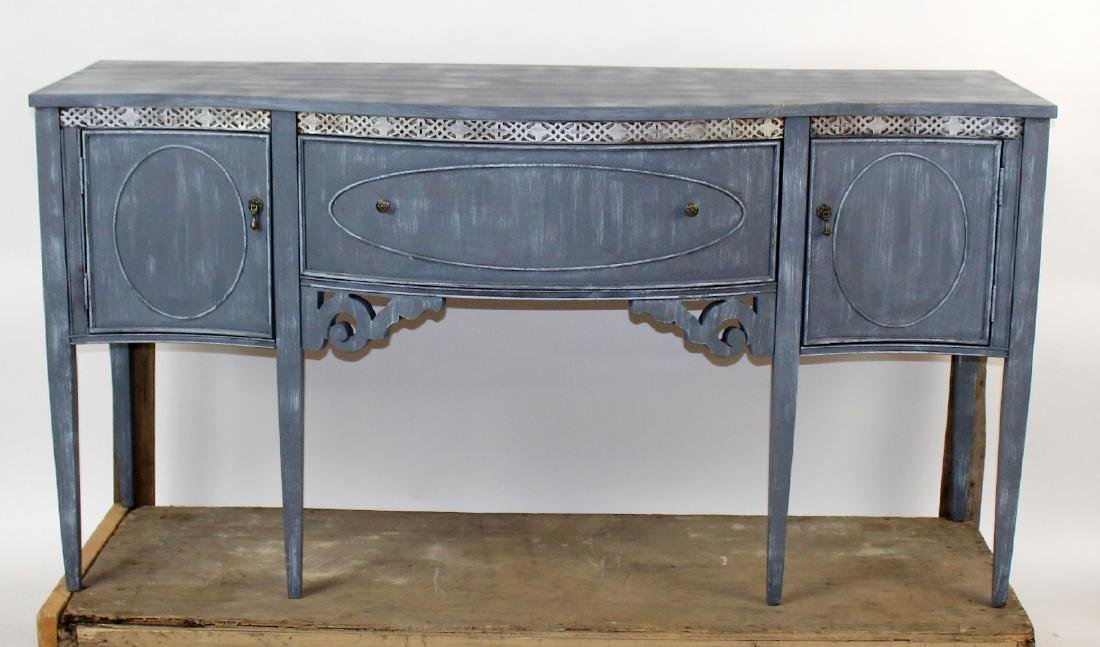 Sheraton style painted sideboard