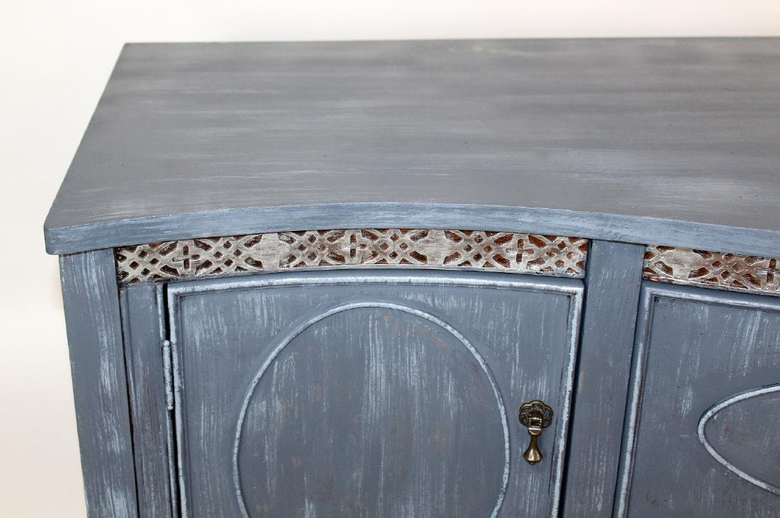 Sheraton style painted sideboard - 4