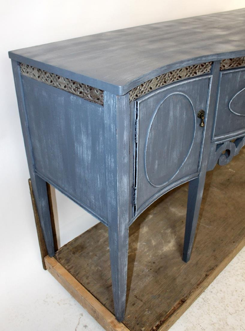 Sheraton style painted sideboard - 5