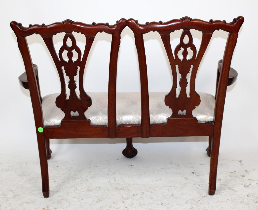 Chippendale style childs double settee - 2