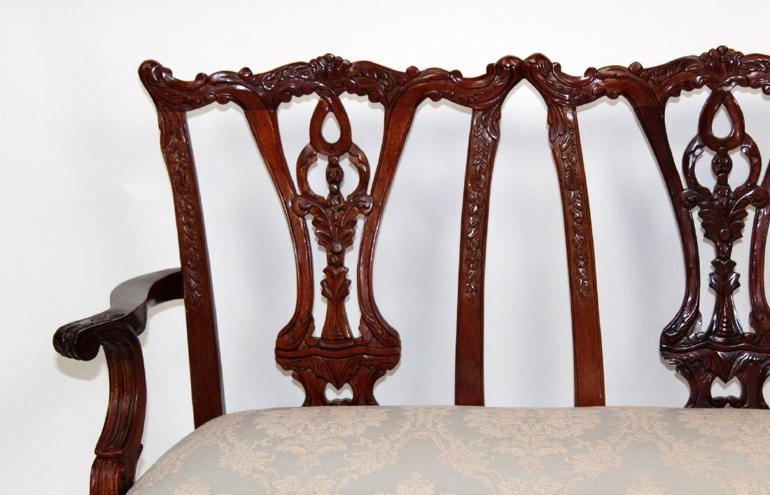 Chippendale style childs double settee - 4