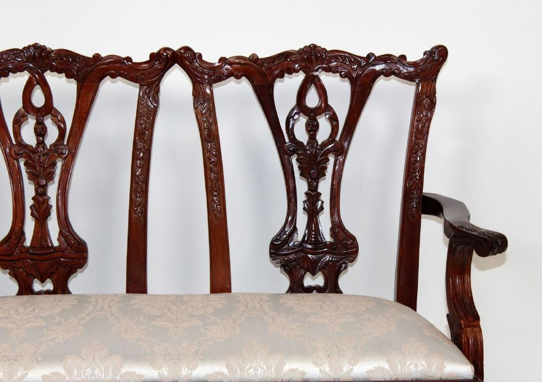 Chippendale style childs double settee - 5