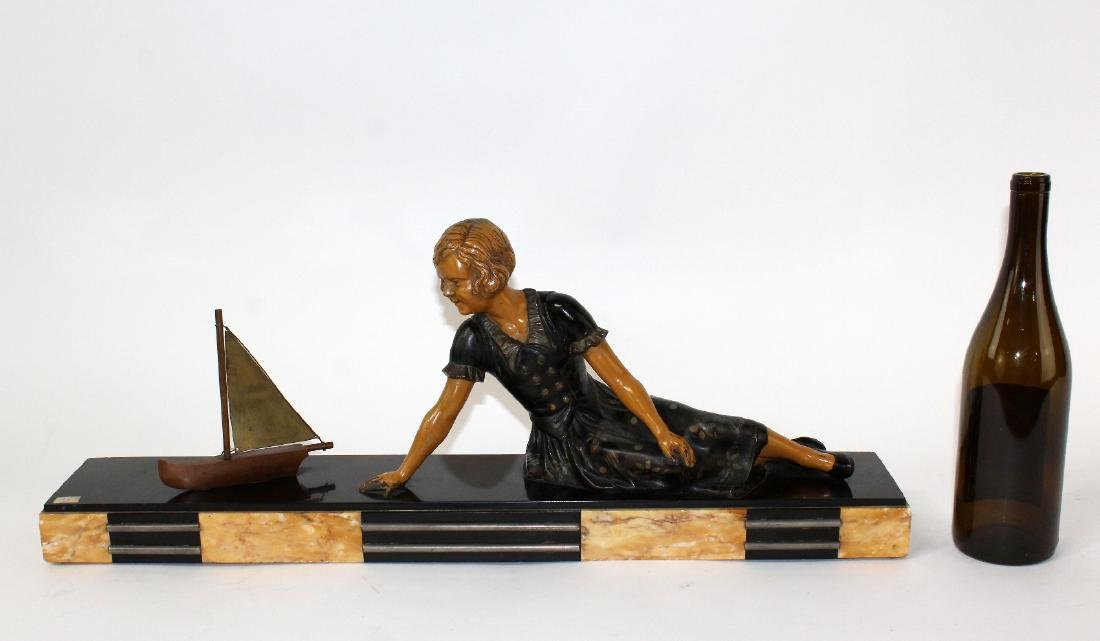 French Art Deco statue of young girl - 7