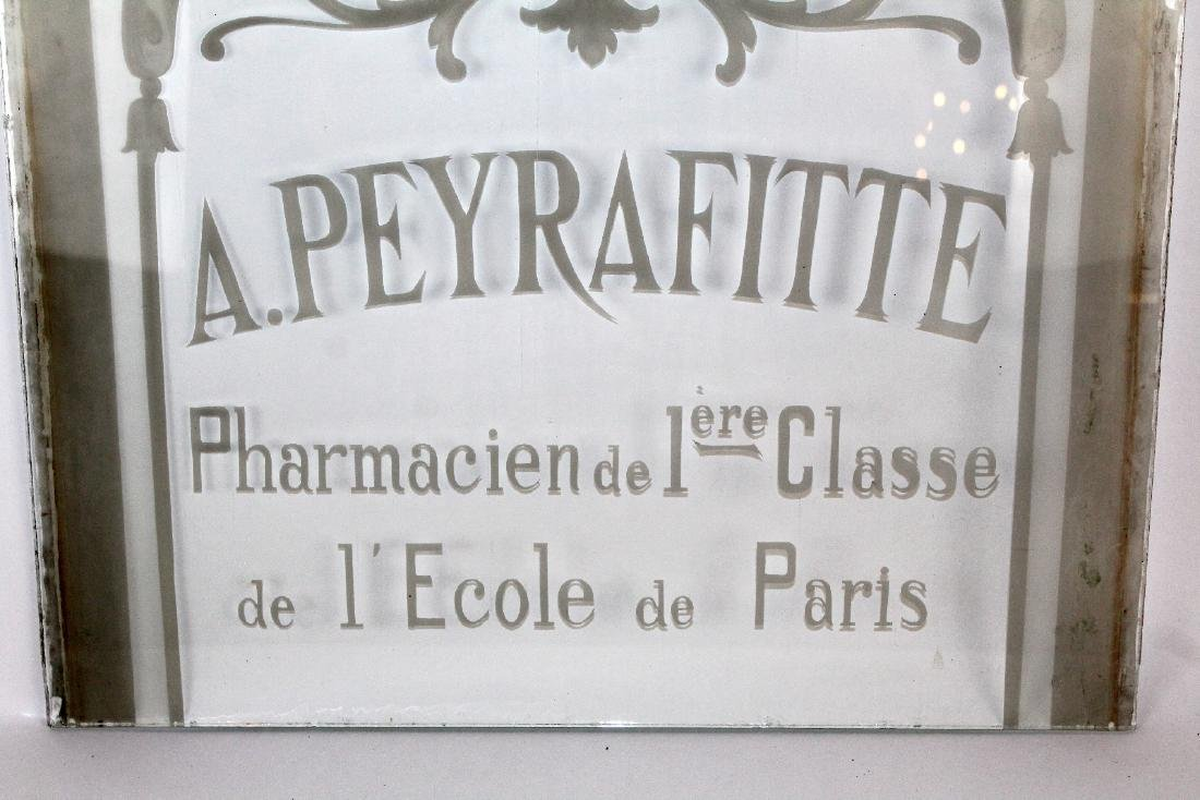 French etched glass pharmacy panel - 4
