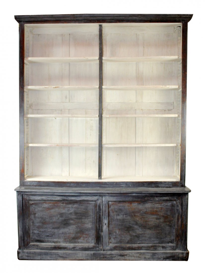 French Louis Philippe open top bookcase