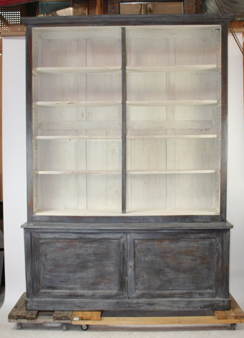 French Louis Philippe open top bookcase - 3