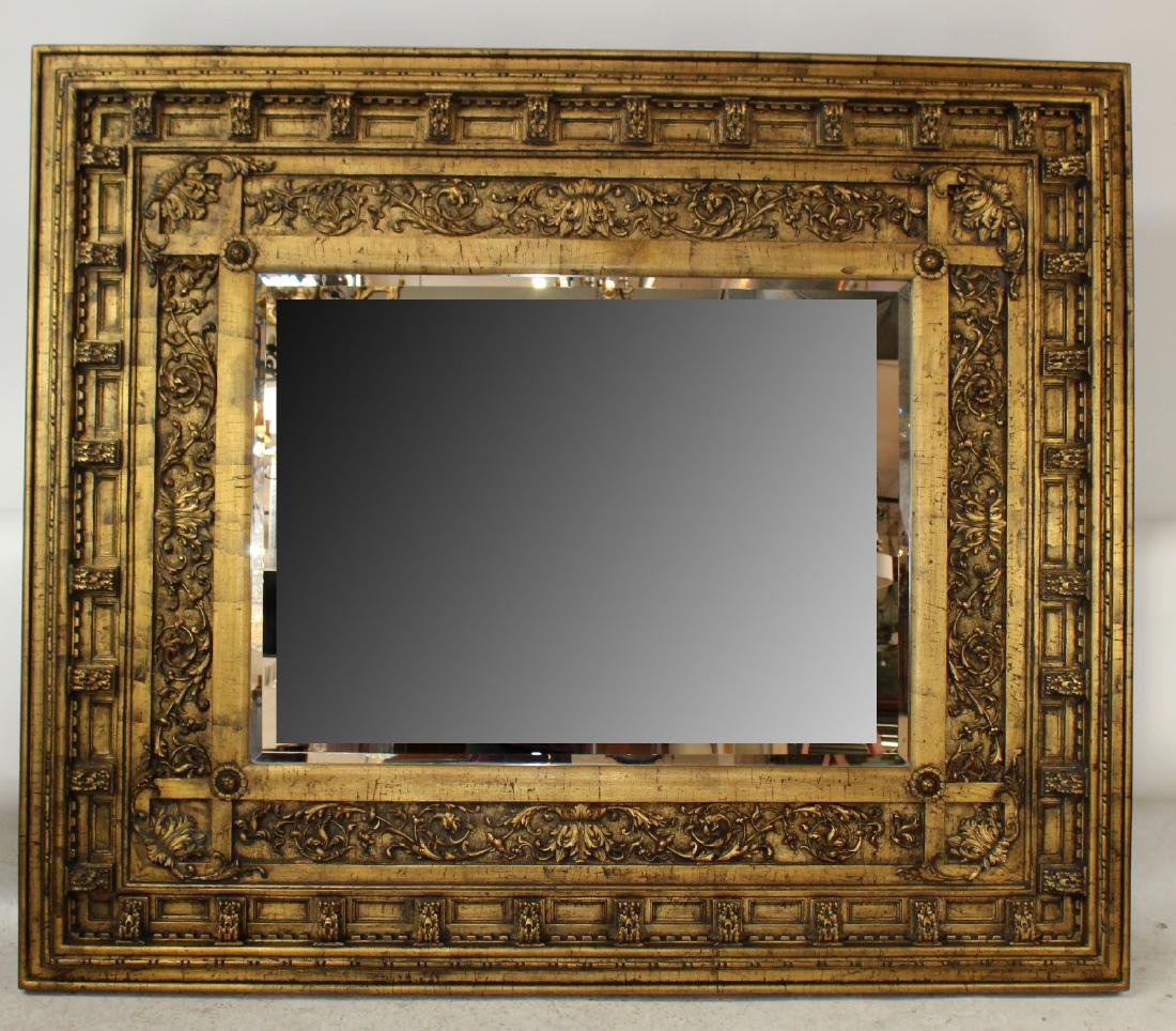 Grand scale gilt framed mirror