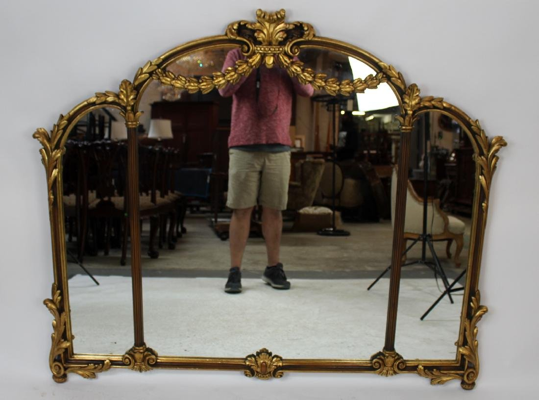 Italian Chippendale style gilt framed mirror