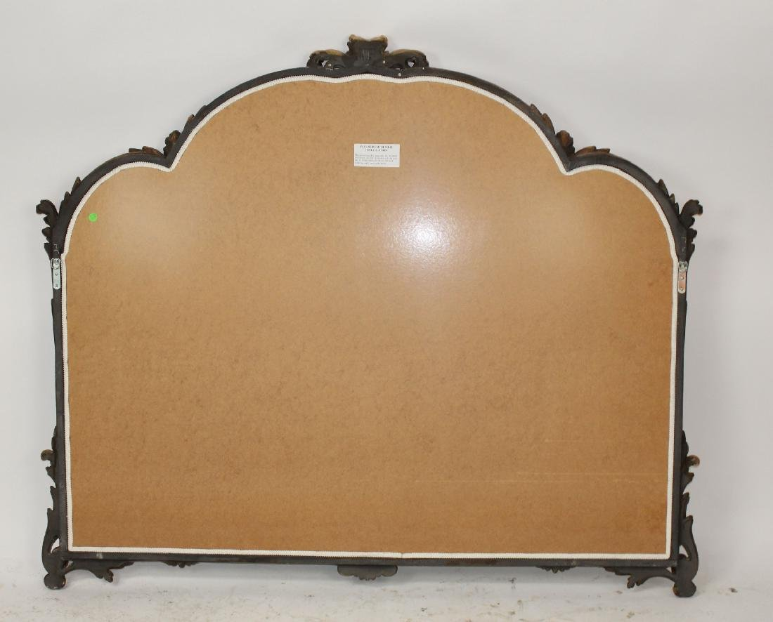 Italian Chippendale style gilt framed mirror - 2