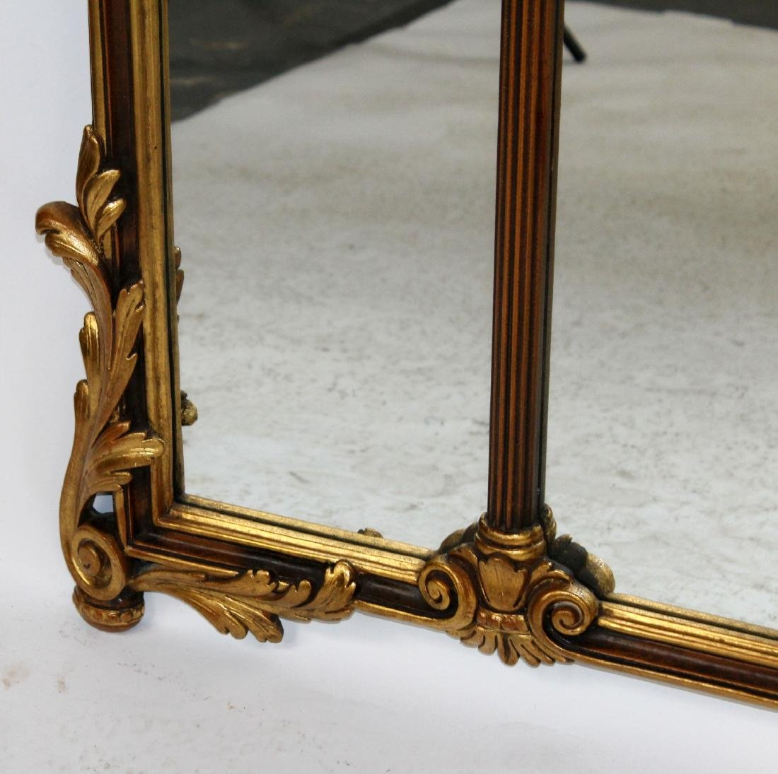 Italian Chippendale style gilt framed mirror - 3