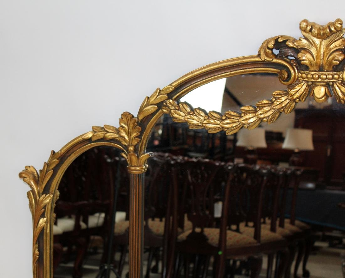 Italian Chippendale style gilt framed mirror - 4