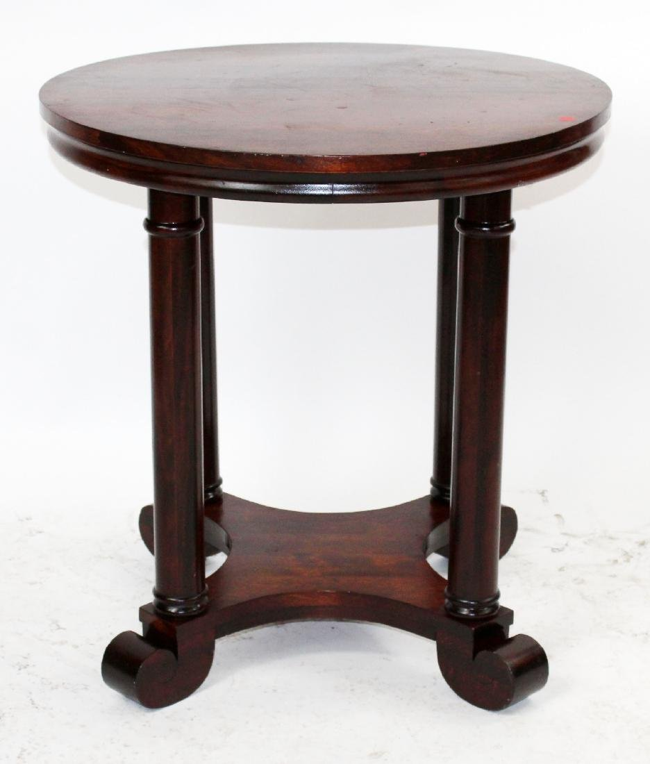 American Empire mahogany round side table