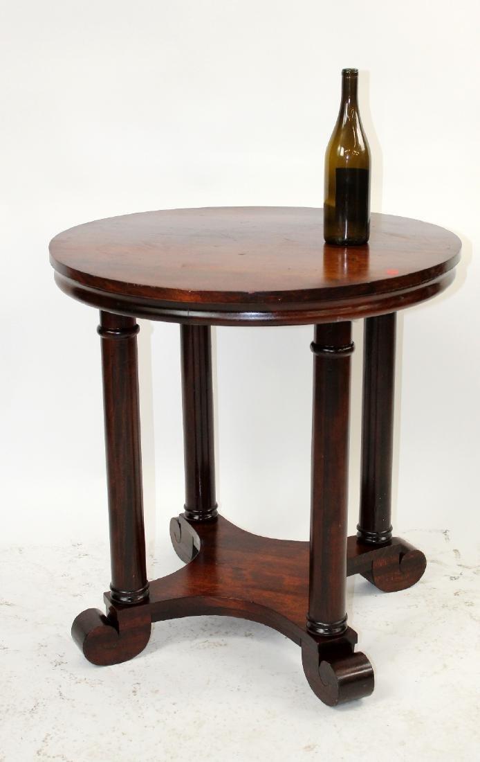 American Empire mahogany round side table - 2